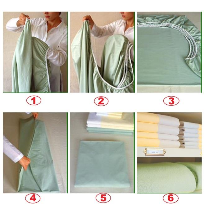 como dobrar lençol 8